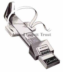 The famous Clarks foot gauge