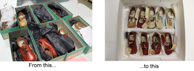 Example of repacking of museum collections