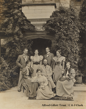 Millfield family group, 24 Jul 1897. Standing L-R: Roger, Margaret, John, Alice Sitting L-R: Esther, Hilda, William, Helen (PHO 1/3/9/16)