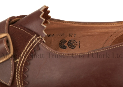 Typical detail shot as captured by the project team. In this case the detail of interest is the 'CC41' utility mark stamped on the lining ©Alfred Gillett Trust / C & J Clark Ltd