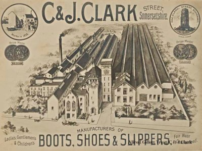 Clarks Boots, Shoes and Slippers, 1896