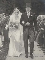 Joyce Green with father Karl Hinde on her marriage to Francis Green, 1933 (JG2)