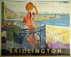 Bridlington railway poster. This image is used courtesy of the National Railway Museum (1928)