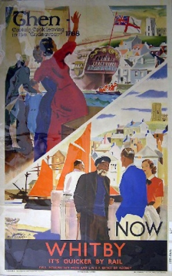 Whitby railway poster. This image is used courtesy of the National Railway Museum (1931)