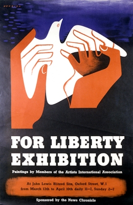 'For Liberty', 1943. Image courtesy of F H K Henrion Archive, University of Brighton Design Archives.