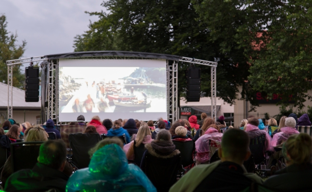 Outdoor cinema event in collaboration with Strode Theatre, 28th July 2017.